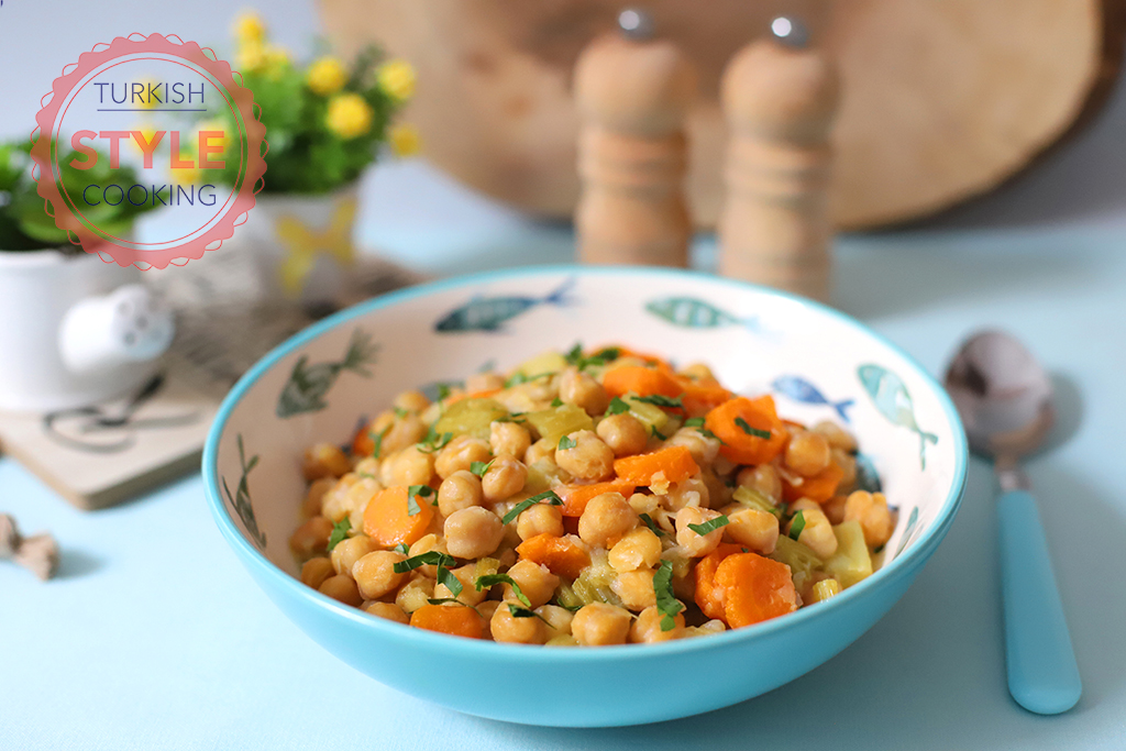Celery Chickpeas Dish Recipe