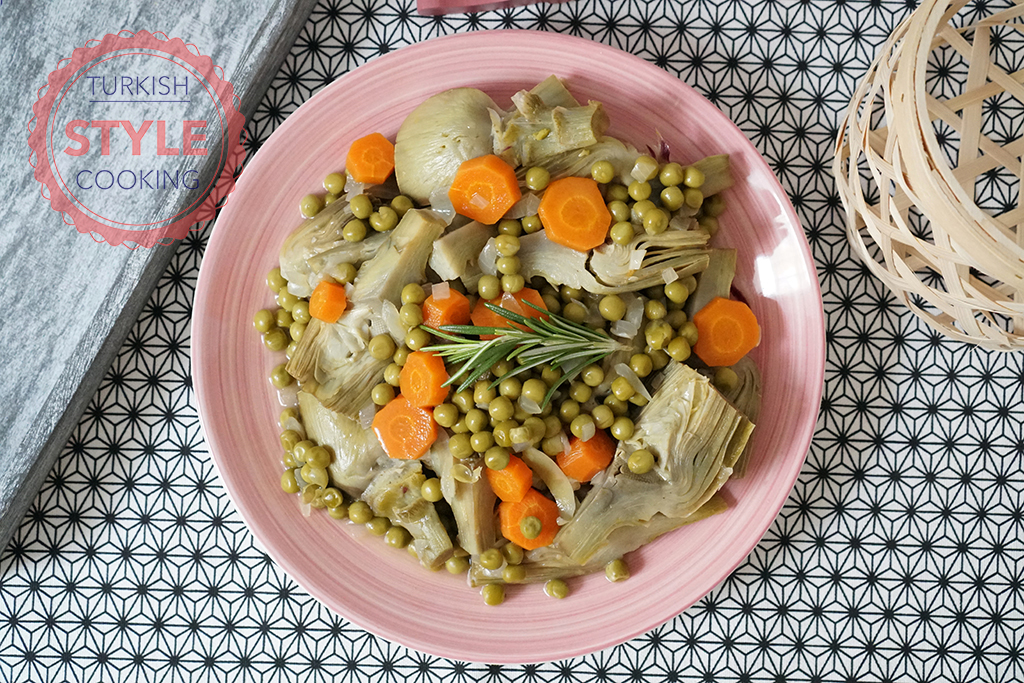 Artichokes With Fresh Peas Recipe