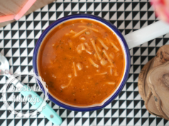 Red Lentil Soup with Eriste (Turkish Noodles)