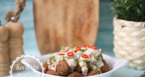 Kofte With Mushroom Sauce