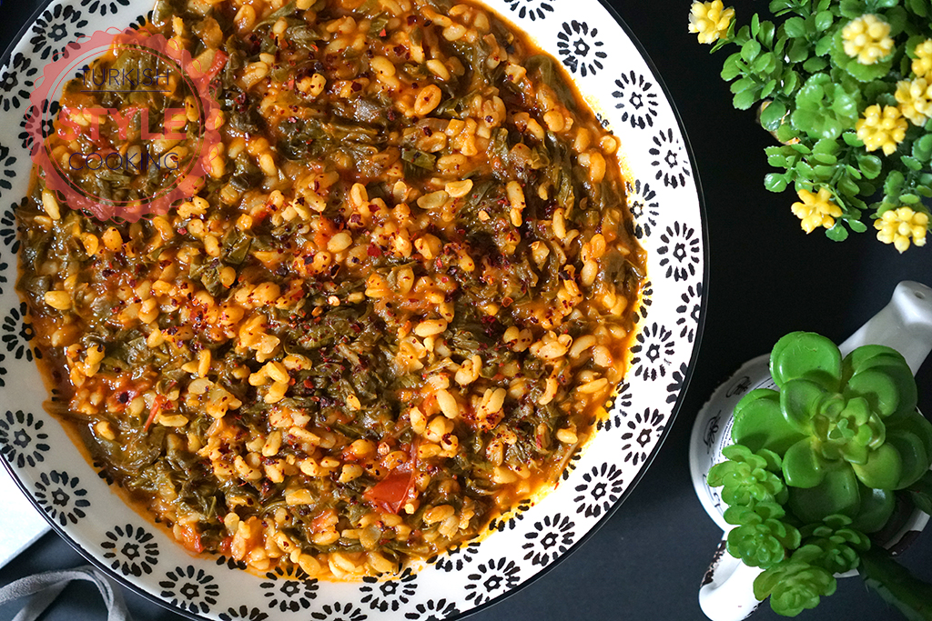 Swiss Chard Stew With Bulgur