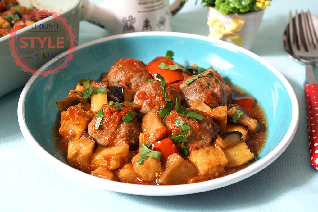 Baked Eggplant Stew With Kofte