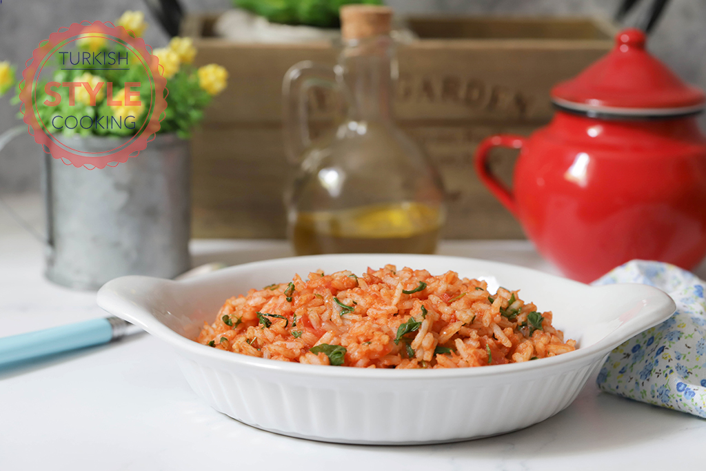 Rice Pilav With Tomatoes and Rocket