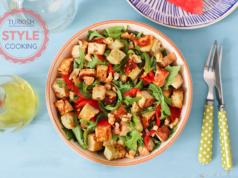 Rocket Salad With Halloumi Cheese