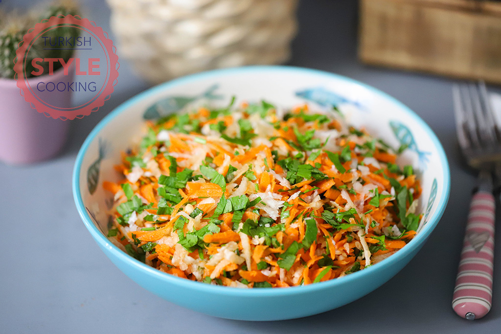 Kohlrabi Carrot Salad Recipe