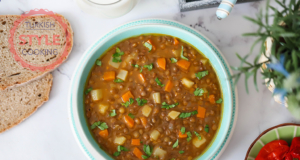 Vegan Green Lentil Stew Recipe