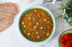 Vegan Green Lentil Stew Recipe