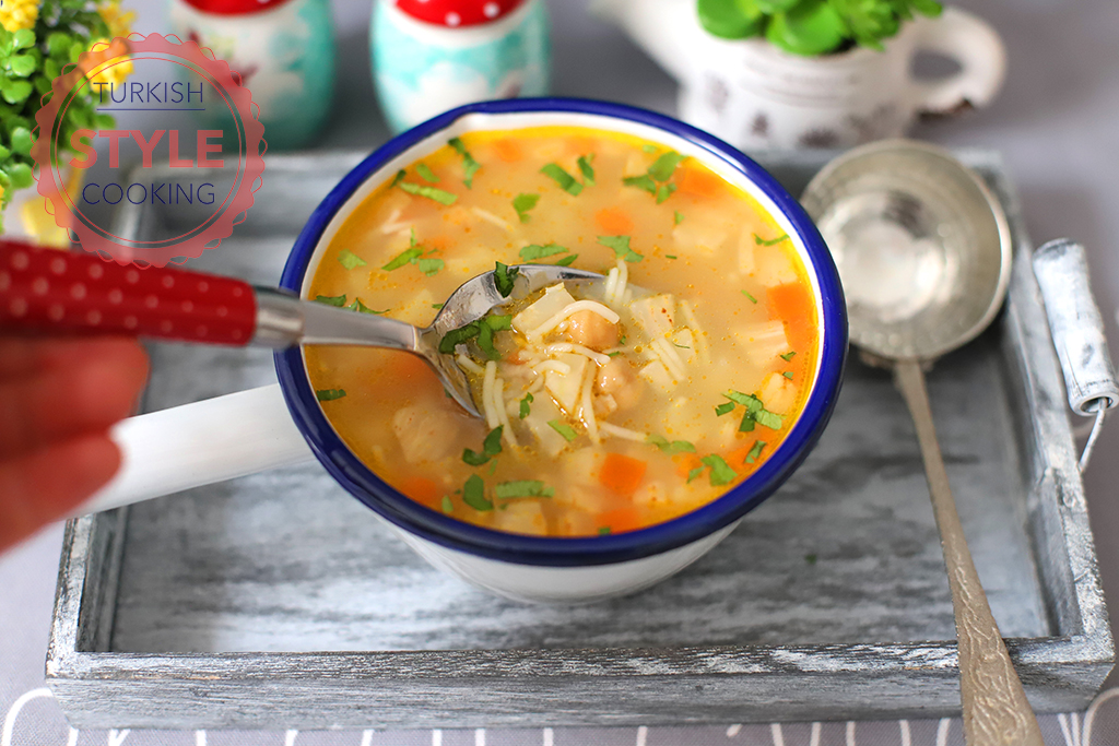 Celery Root Soup With Vermicelli
