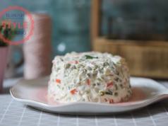 Russian Olivye Salad Recipe