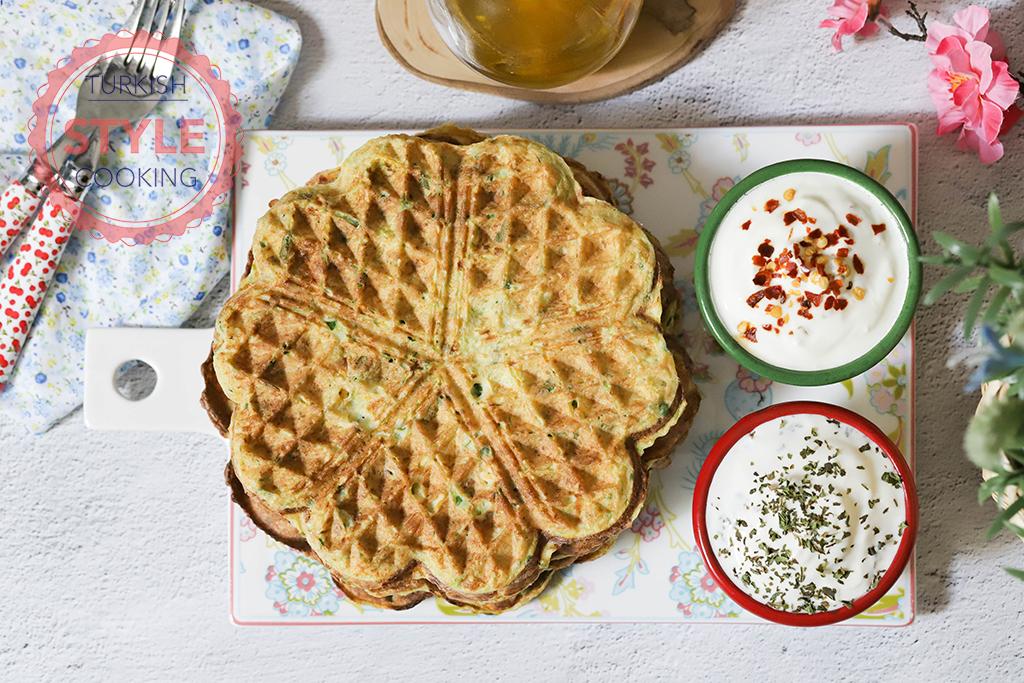 Savory Zucchini Waffle Fritters