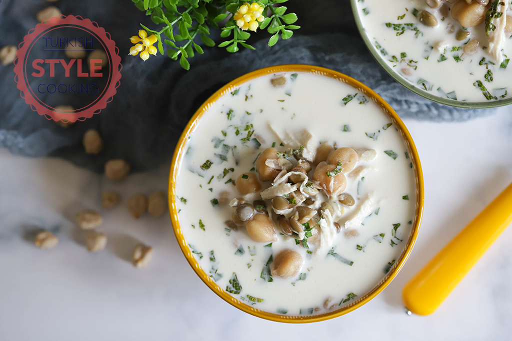 Chicken and Chickpeas Cold Soup Recipe